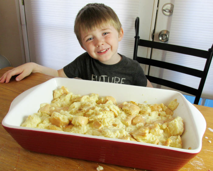 Charlie with French Toast Casserole