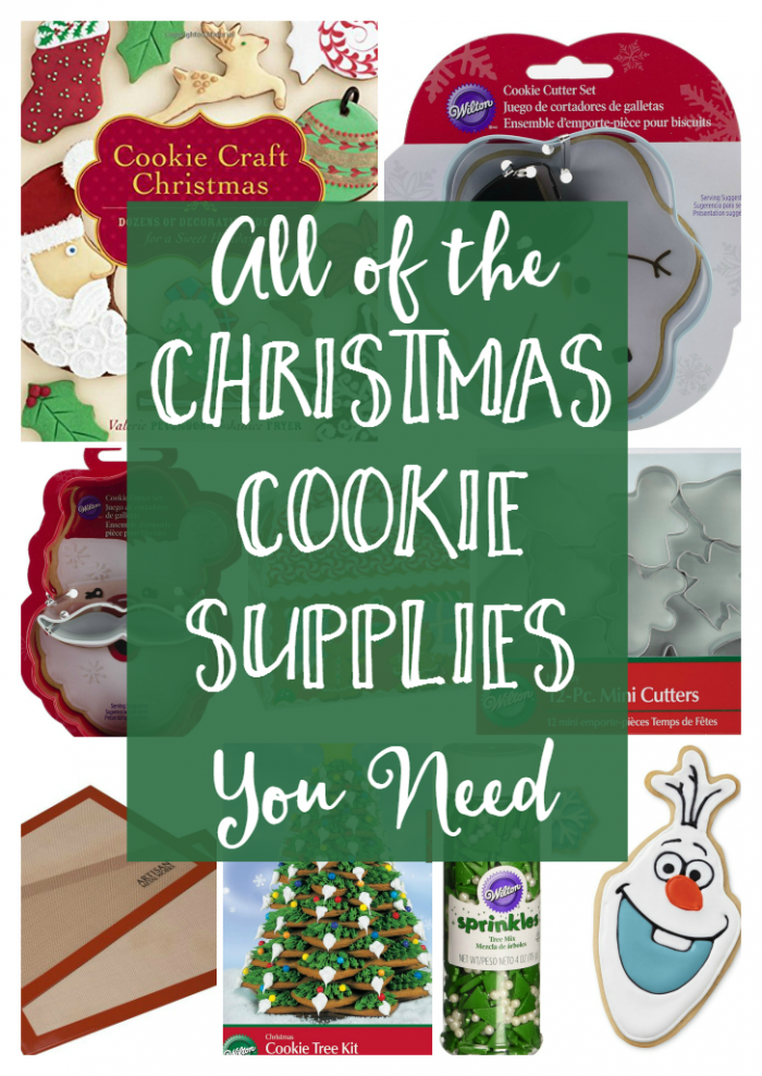 Christmas Cookie Supplies - Christmas Cookies are coming! We're sharing a list of all of the cookies supplies you need!