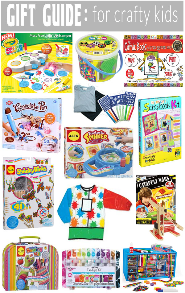 We have some great gift ideas for those kids that love crafts on our Gift Guide for Crafty Kids!