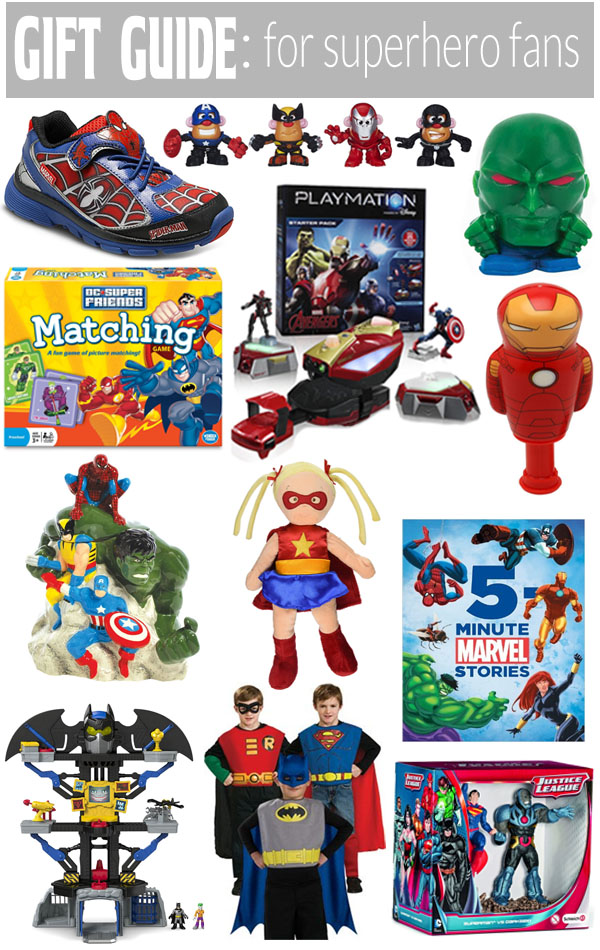 Gift Guide for superhero fans! Something for everyone on your list that is a superhero fan!