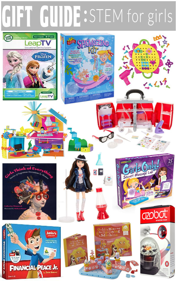 Girls love playing while learning about Science, Technology, Engineering, and Math! Something for all the girls on our STEM Gifts for Girls Guide!