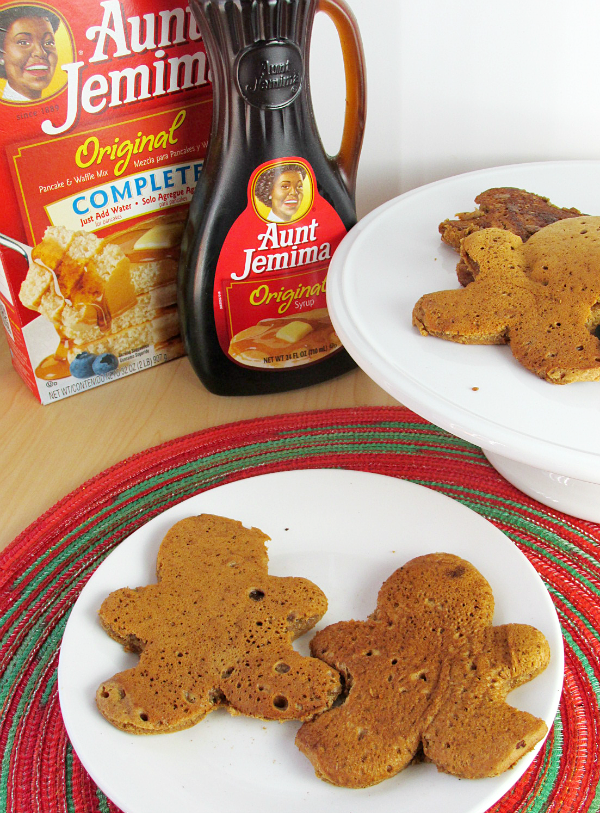 Gingerbread Man Pancakes are the perfect way to add a little creativity to your holiday breakfast! Simply made using box pancake mix and a cookie cutter!
