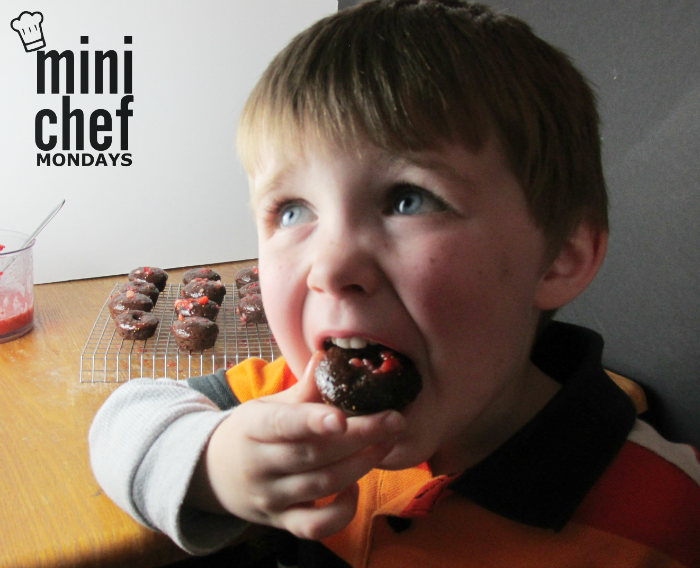 Mini Chef Mondays Eating Donut