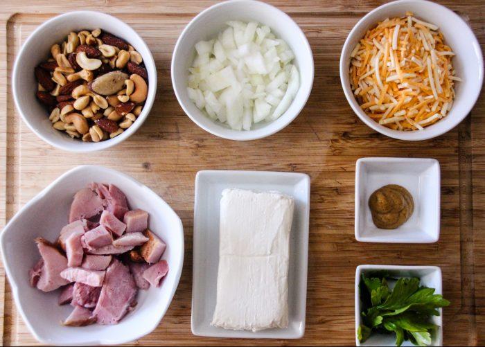 Mini Ham Cheese balls Ingredients