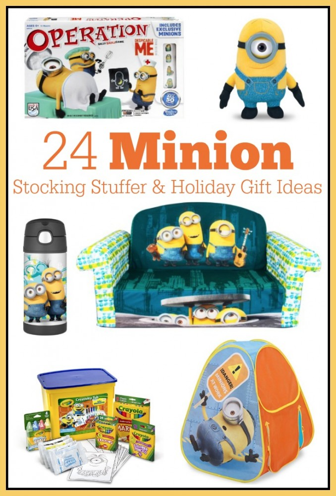Minion Gift Ideas including stocking stuffers, children's furniture, toys, and art sets!