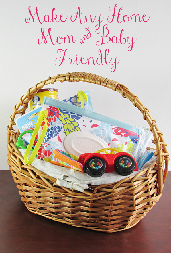 Make any home mom and baby friendly with this basket! You can put it together for all those visitors over the holidays!