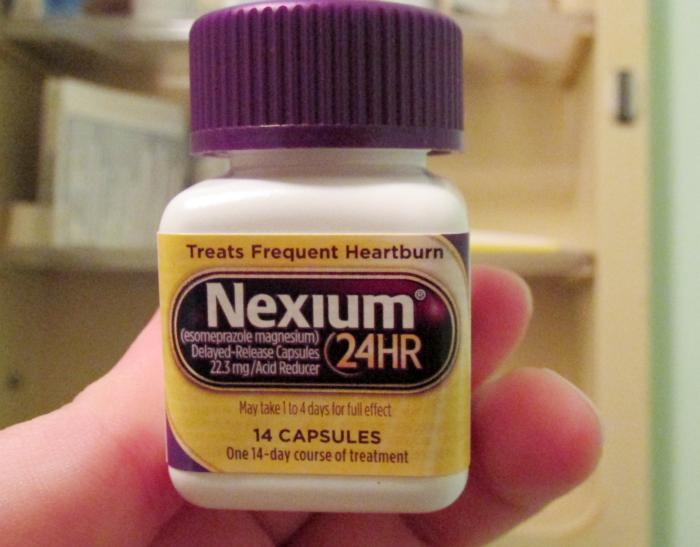 Nexium 24HR in medicine cabinet