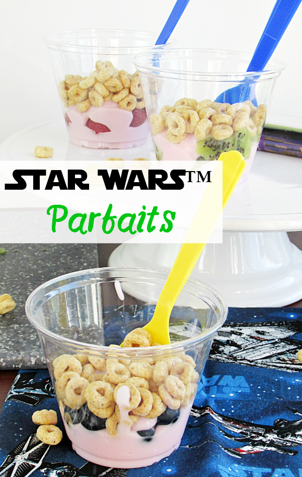 If you're a Star Wars™ fan, you need to check out the easiest Star Wars™ parfait! With a little fruit, cereal, and yogurt, it's the perfect breakfast, after school snack, or dessert!