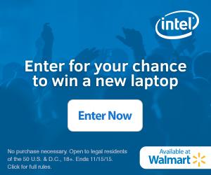Win a New Laptop Intel