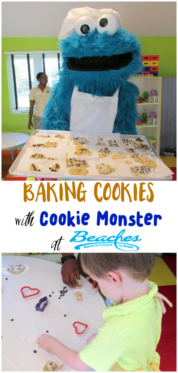 The kids loved Baking Cookies with Cookie Monster while at Camp Sesame at Beaches Turks & Caicos Resort Villages and Spa.