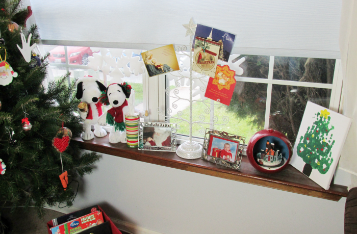 Christmas Decorations on Windowsill