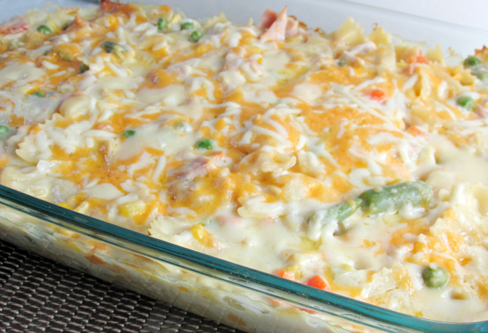 Creamy Turkey and Noodles in Casserole