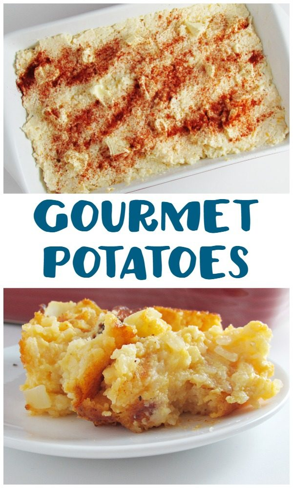 Gourmet Potatoes are my favorite side dish to take to holiday dinners. Check out the fun dish that we picked up to pass along.