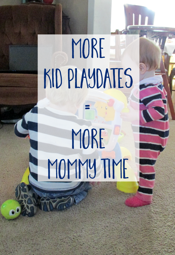 Kid Playdates = Mommy Time! Playdates can be done with easy food, no stress, and everyone can have fun!