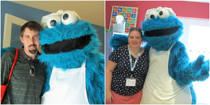 Mommy and Daddy with Cookie Monster at Beaches