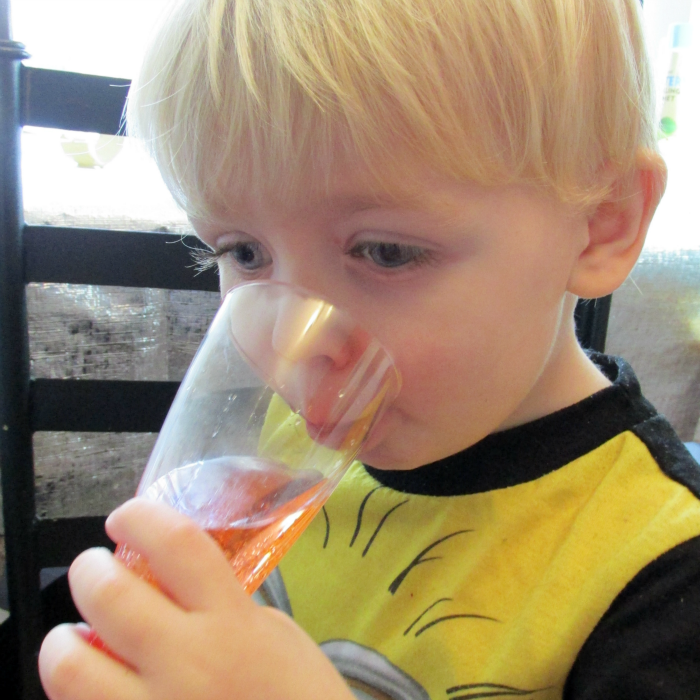 Owen with Fizzy Drink