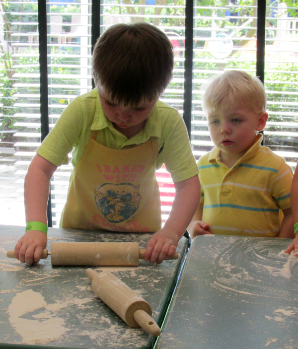 rolling dough for cookies at Beaches