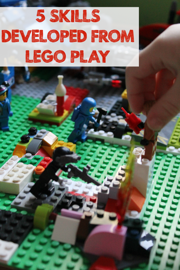 5 Skills Developed from LEGO Play - Playing with LEGO bricks is fun, but your kids can also learn valuable skills from their LEGO Play!