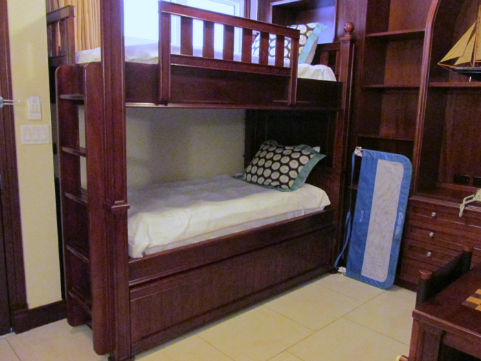 Bunk Beds in Italian Village Suite