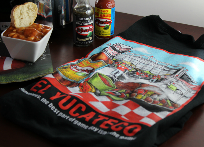El Yucateco Shirt and Spicy Sausage and Bean Stew