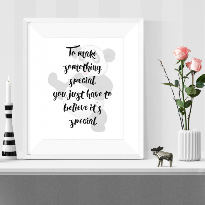 Framed Kung Fu Panda Printable Quote