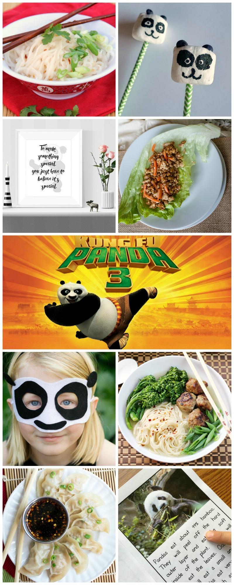 Kung Fu Panda 3 recipes, crafts, and more!