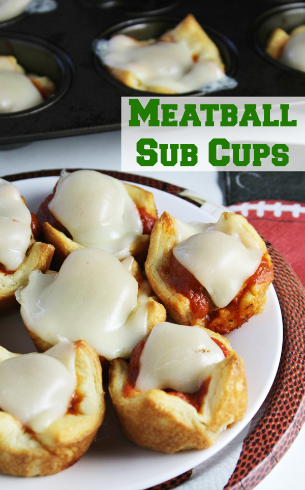 Meatball Sub Cups make a perfect Game Day appetizer that the kids can help throw together!