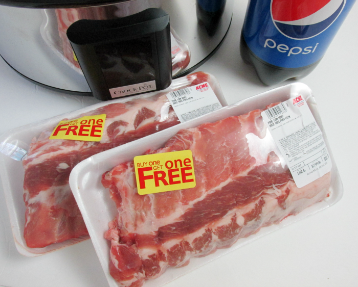 Pork Ribs and Pepsi from Acme