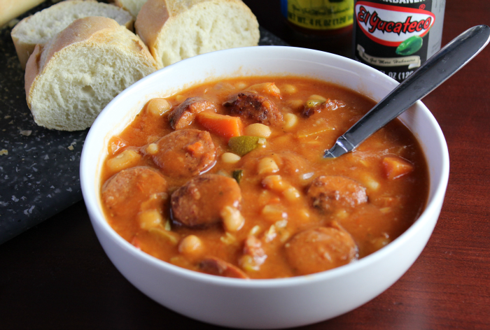 Spicy Sausage and Bean Stew