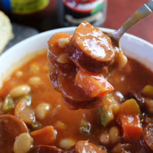 Slow Cooker Spicy Sausage and Bean Stew