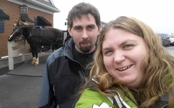 Tom and I in Amish Country
