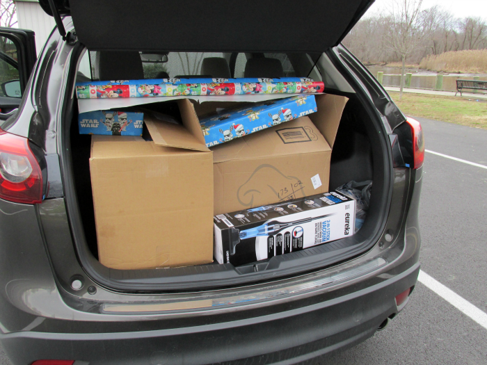 Trunk Packed for Christmas 2016 Mazda CX-5