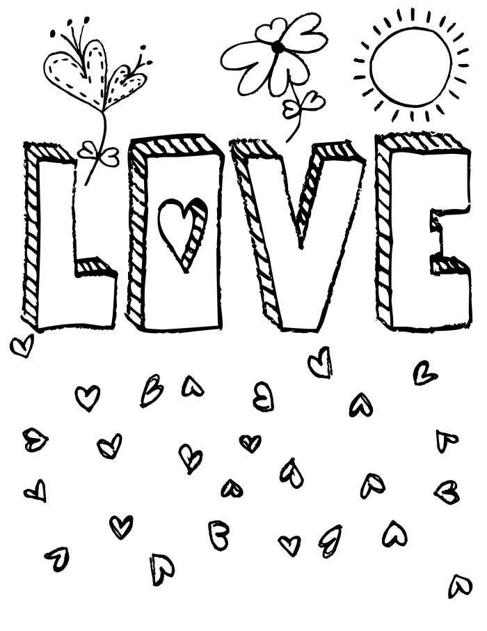 Valentine Coloring Page 2