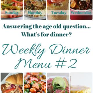 Weekly Dinner Menu 2