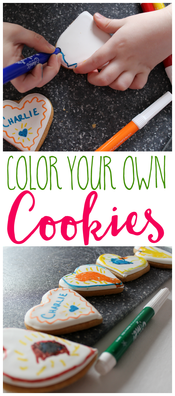 An easy way to get your kids in the kitchen is coloring! Color Me! Cookies from Eleni's New York are perfect for a party or a play date!