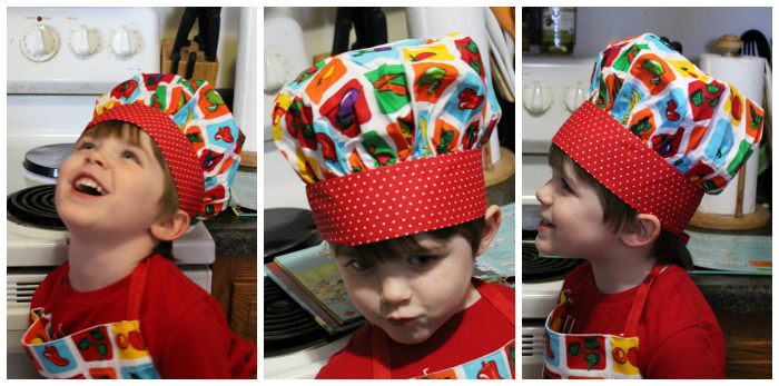 Mini Chef Mondays Handstand Kids Hat and Apron