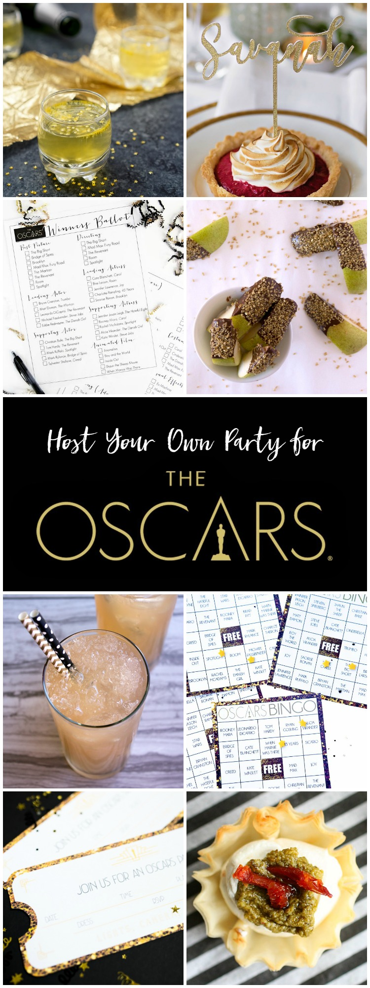 Find everything you need to host your own party for The Oscars!