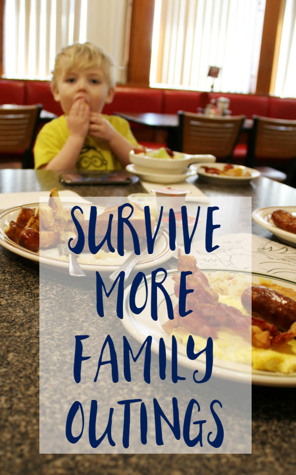 Family Outings with little ones is not always easy or fun. We're sharing how we get through them and enjoy time out!