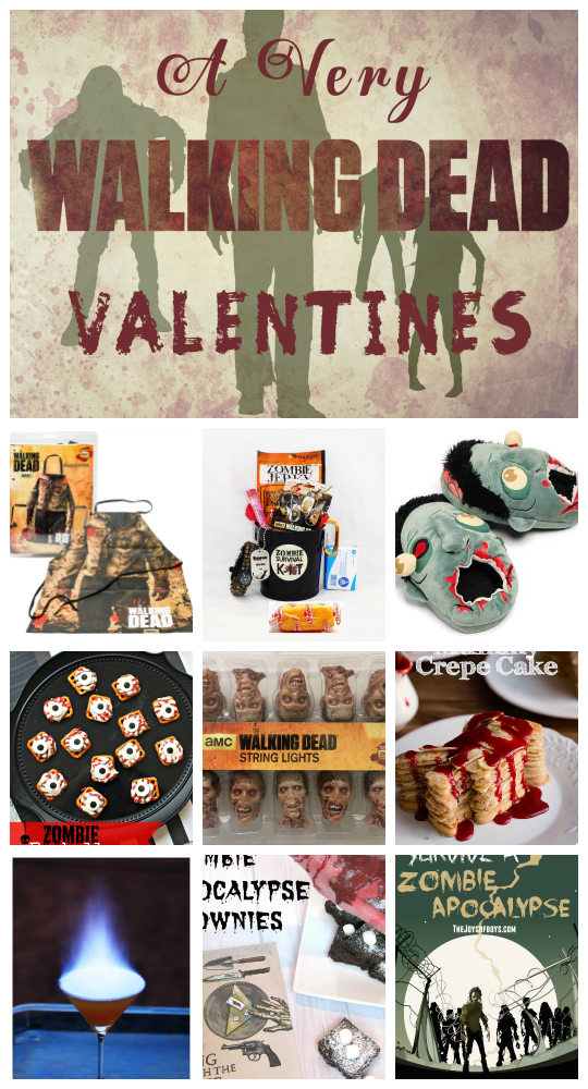 Walking Dead Valentine's - Everything you need from food, cocktails, crafts, and gift ideas for your favorite Walker in your life.
