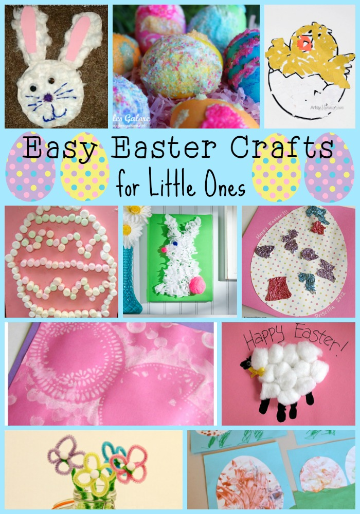 Easter Crafts for the little ones! Perfect for toddlers and preschoolers!