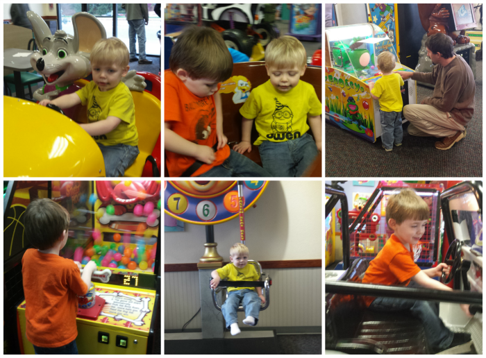 Fun at Chuck E Cheese
