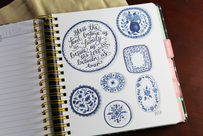 Illustrations in Kitchen Keepsake Diary
