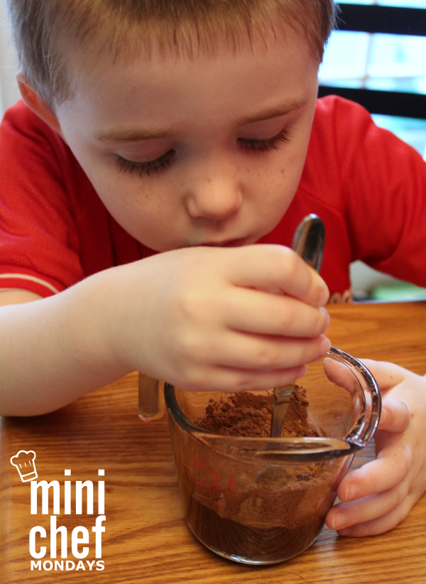 Mixing Chocolate Mini Chef Mondays