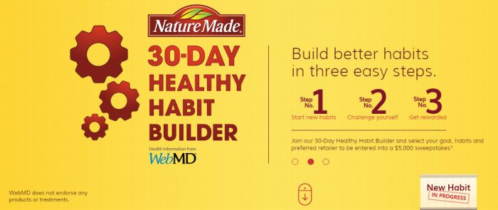 Nature Made 30-Day Healthy Habit Builder