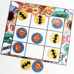 Superhero Tic-Tac-Toe – Free Printable