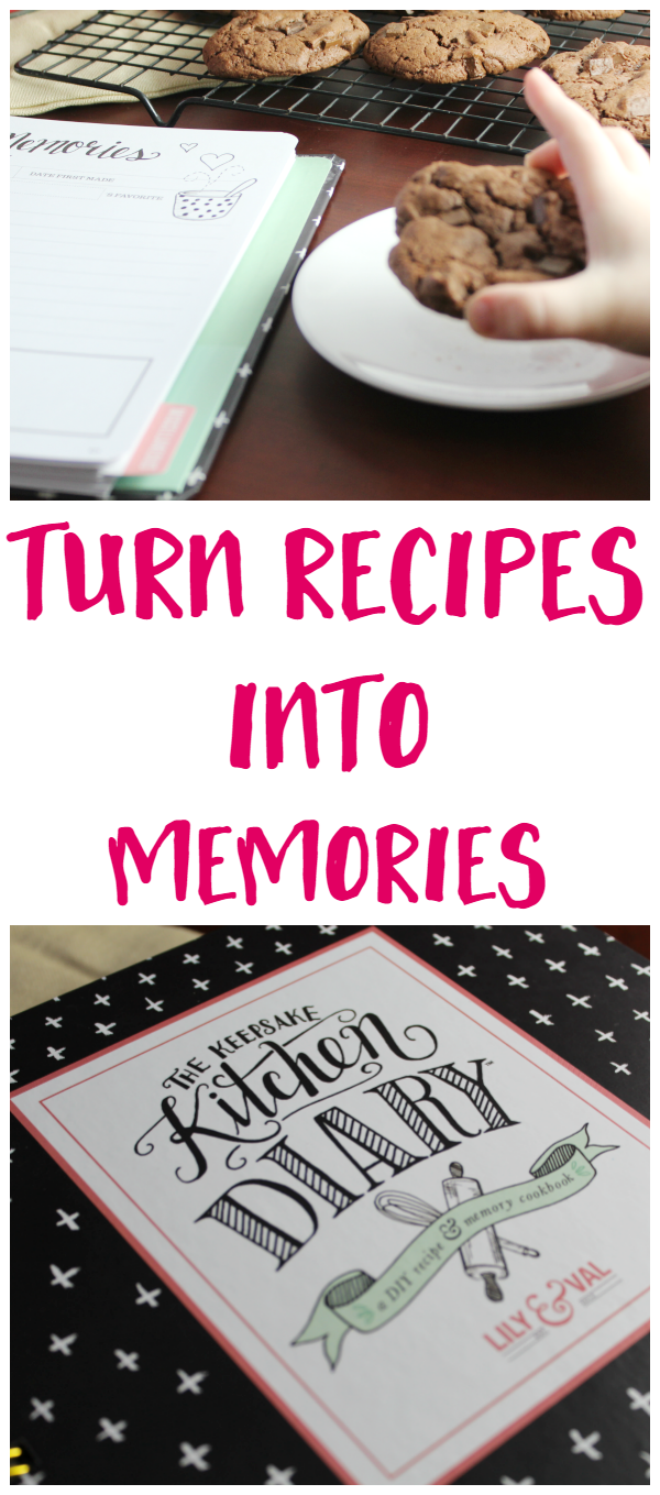 Food = Memories. With this Keepsake Kitchen Diary, you can record your favorite recipes and all of the memories that go with them.