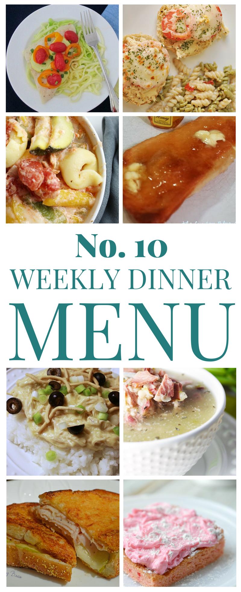 Weekly Dinner Menu 10