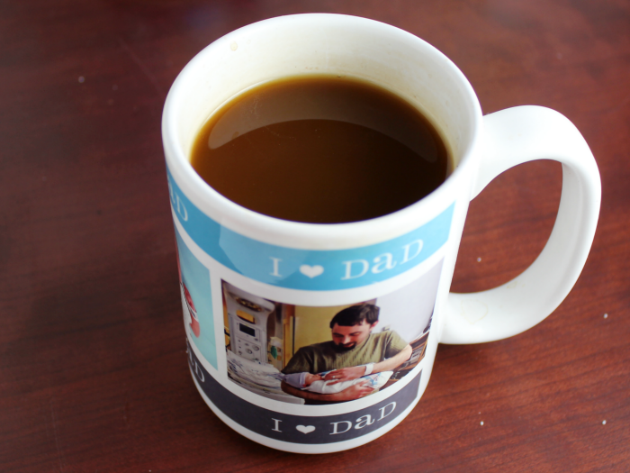 his perfect cup of coffee