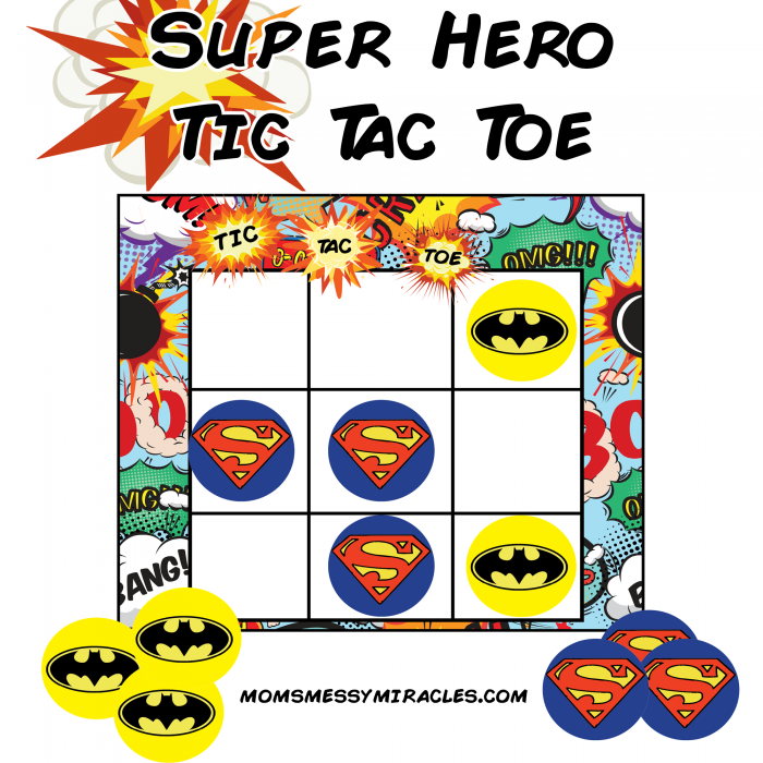 photo relating to Free Printable Tic Tac Toe Board identify Superhero Tic-Tac-Toe - Absolutely free Printable - The Shirley Excursion