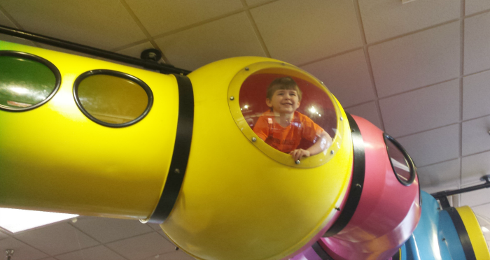 tunnels at Chuck E Cheese